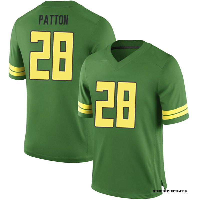 Game Men's Cross Patton Oregon Ducks Green Football College Jersey