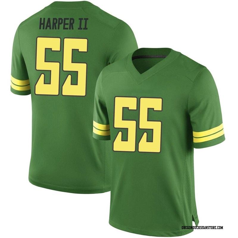 Game Men's Marcus Harper II Oregon Ducks Green Football College Jersey