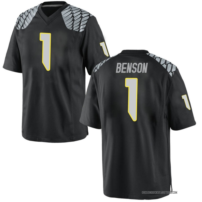 Game Youth Trey Benson Oregon Ducks Black Football College Jersey