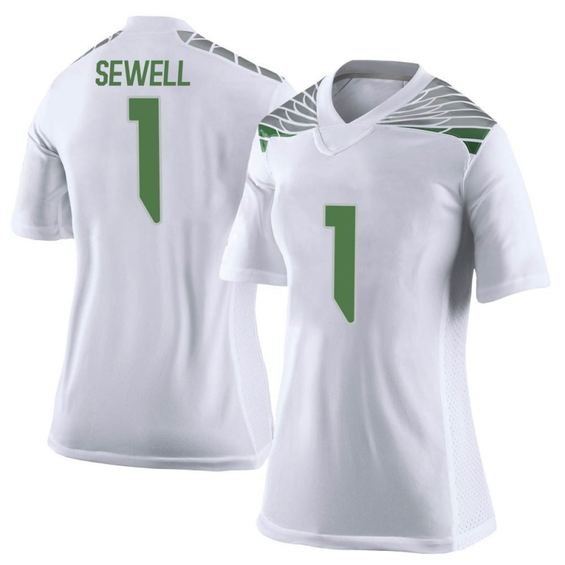 Limited Women's Noah Sewell Oregon Ducks White Football College Jersey