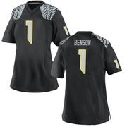 Replica Women's Trey Benson Oregon Ducks Black Football College Jersey