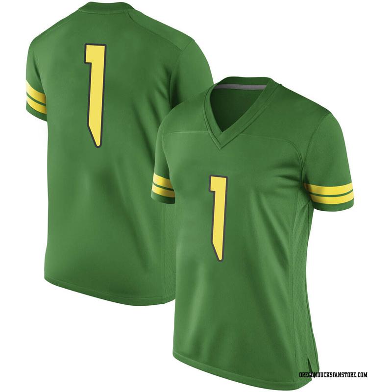 Replica Women's Trey Benson Oregon Ducks Green Football College Jersey